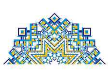 Decorative fan with a geometric pattern Royalty Free Stock Photos