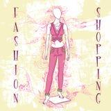 Decorative fashion illustration mannequin for sale Stock Photo