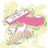 Decorative fashion illustration men's shoes Royalty Free Stock Photo