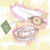 Decorative fashion illustration of women's belts Stock Photos
