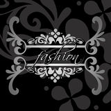 Decorative Fashion Ornate Black Banner. Royalty Free Stock Photos