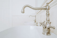 Decorative faucets in the bathroom Royalty Free Stock Images