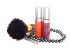 Decorative female cosmetics Stock Photography