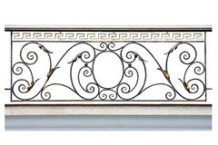 Decorative fence of the balcony, galleries. Decorative  fence of the balcony, gallerie in old-time stiletto. Isolated over white background. Photo taken on Royalty Free Stock Image