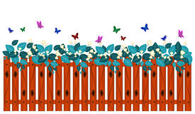 Decorative of Fence, Butterfly and leaf Royalty Free Stock Photography