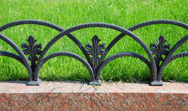 Free Decorative Fencing Near Sidewalk In Park Stock Photography - 10677692