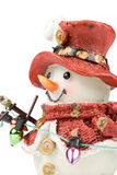 Decorative figure of a snowman Stock Photography