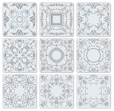 Decorative finishing ceramic tiles Royalty Free Stock Photography