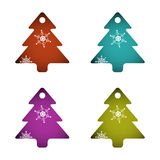 Decorative fir tree set royalty free stock images