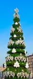 Decorative fir tree on street Stock Photos