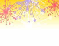 Decorative Fireworks Border Stock Photos