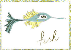 Decorative fish with border Stock Image