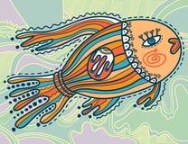 Decorative fish and decorative lake. Colored ornamental fish in decorative lake Stock Photography