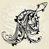 Decorative fish. Hand drawn decorative fish, design element Royalty Free Stock Photography