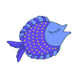 Decorative Fish. Illustration of an Abstract Decorative Fish Stock Image