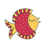 Decorative Fish. Illustration of an Abstract Decorative Fish Royalty Free Stock Photography