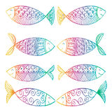 Decorative fish pattern. Stock Photography