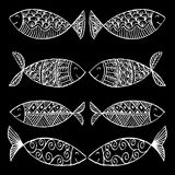 Decorative fish pattern. Stock Photo
