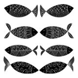 Decorative fish pattern. Stock Photos