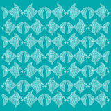 Decorative fish pattern.pattern. For shirt and print Royalty Free Stock Photos