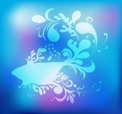 Decorative fish silhouette, vector illustration. Design element Royalty Free Stock Images