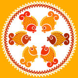 Decorative fish. Vector decorative fish in a folk style Stock Image