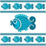 Decorative fish. Vector decorative fish in a folk style Royalty Free Stock Image
