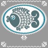 Decorative fish. Vector decorative fish in a folk style Stock Photos