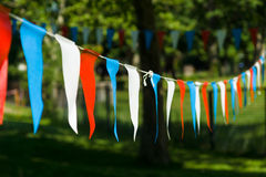 Decorative flags Royalty Free Stock Images