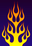 Decorative flame. On dark background, vector illustration Royalty Free Stock Photos