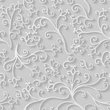 Decorative flat floral elements pattern seamless Royalty Free Stock Photo