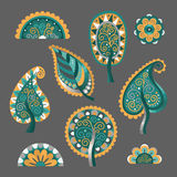 Decorative flat style vector trees Stock Images