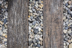 Decorative floor pattern of a gravel stone top view Stock Photography