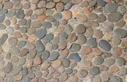 Decorative floor pattern of gravel stones Royalty Free Stock Images