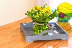 Decorative floral arrangement Stock Images