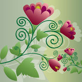 Decorative floral background Stock Photos