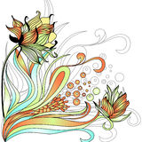 Decorative floral background. Universal template for greeting card, web page, background Royalty Free Stock Image