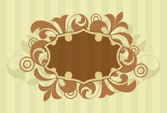 Decorative floral background. An abstract brown and pale yellow floral design vector illustration