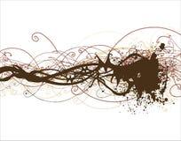 Decorative floral background vector illustration