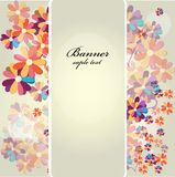 Decorative floral background Royalty Free Stock Image