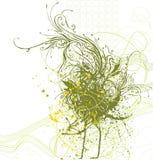 Decorative floral background. Vector illustration Stock Images