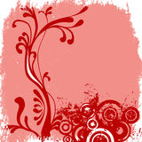 Decorative floral background Stock Photo