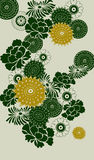 Decorative floral background Stock Image