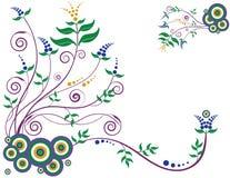 Decorative Floral Background Stock Photo