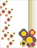 Decorative floral background. For letters or wallpaper Royalty Free Stock Images