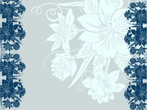 Decorative floral background Royalty Free Stock Photos
