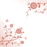Decorative floral background with butterflies royalty free illustration