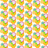 Decorative floral background. Decorative background with floral elements, vector illustration Stock Photos