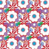 Decorative floral background. Decorative background with floral elements, vector illustration Stock Image