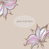 Decorative floral background with flowers. Hand drawn Stock Photos